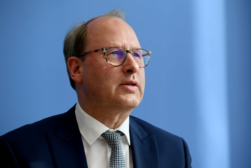 FILE PHOTO: Managing Director of the Handelsverband Deutschland Stefan Genth attends a news conference in Berlin