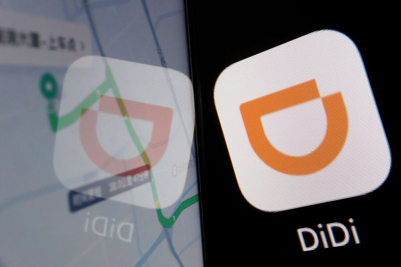 FILE PHOTO: Illustration picture of Chinese ride-hailing giant Didi