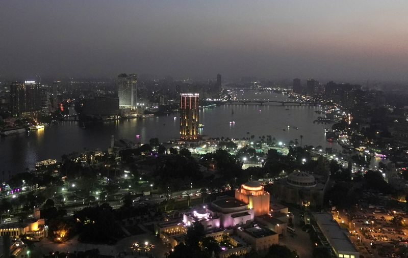 FILE PHOTO: A view of the city skyline and River Nile from Cairo tower building in the capital of Cairo