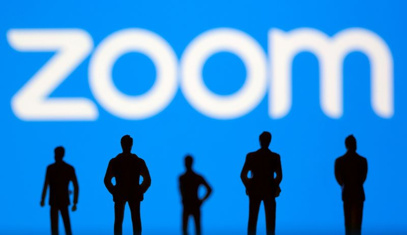 FILE PHOTO: Illustration picture of Zoom logo