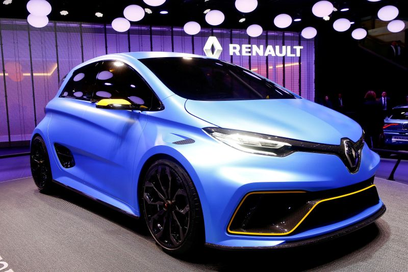 FILE PHOTO: A Renault Zoe E-Sport concept car is seen during the 87th International Motor Show at Palexpo in Geneva