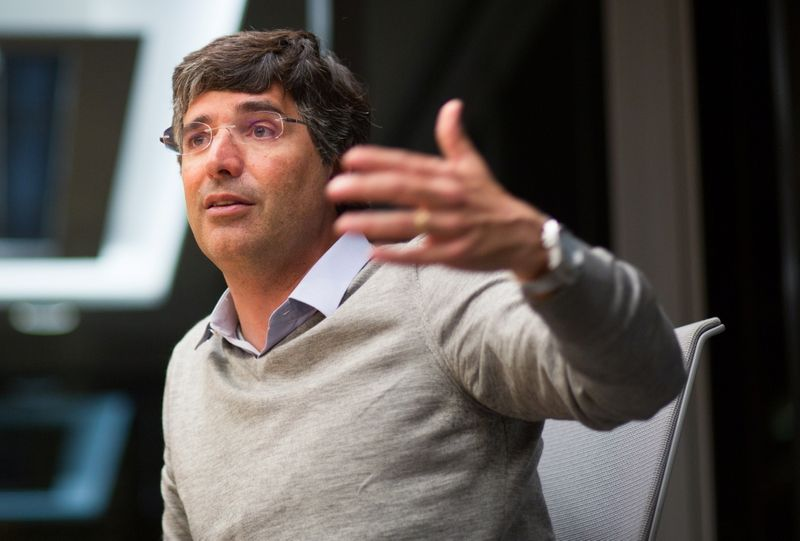 BTG Pactual's billionaire banker Esteves attends a meeting with Reuters in Sao Paulo