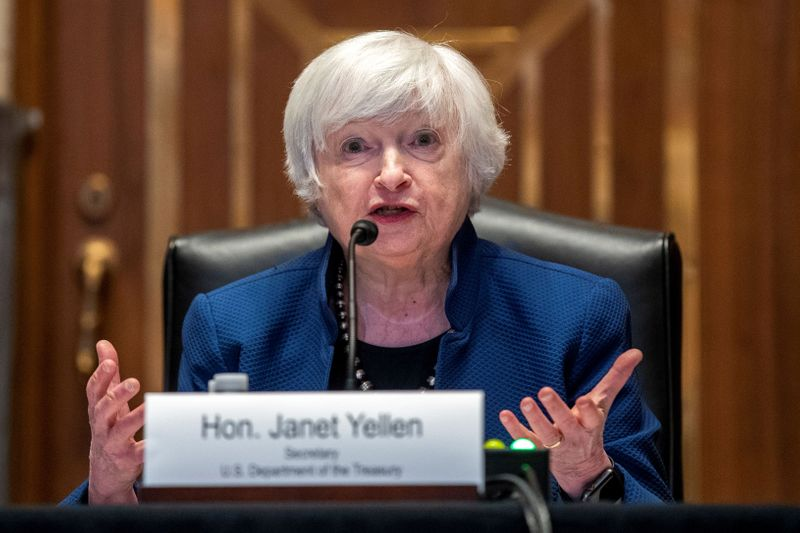 FILE PHOTO: Yellen testifies about Treasury budget request