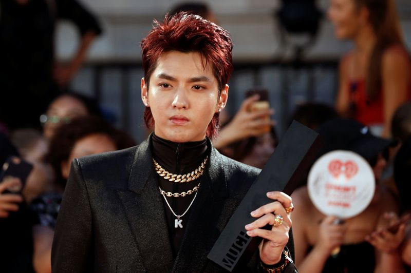 FILE PHOTO: Kris Wu arrives at the iHeartRadio MuchMusic Video Awards (MMVA) in Toronto