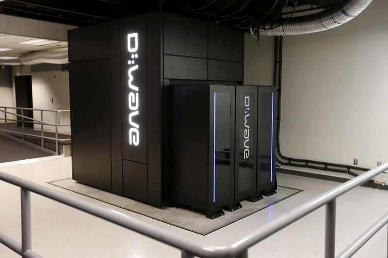 FILE PHOTO: A D-Wave 2X Quantum Computer pictured during a media tour of the Quantum Artificial Intelligence Laboratory (QuAIL) at NASA Ames Research Center in Mountain View, California