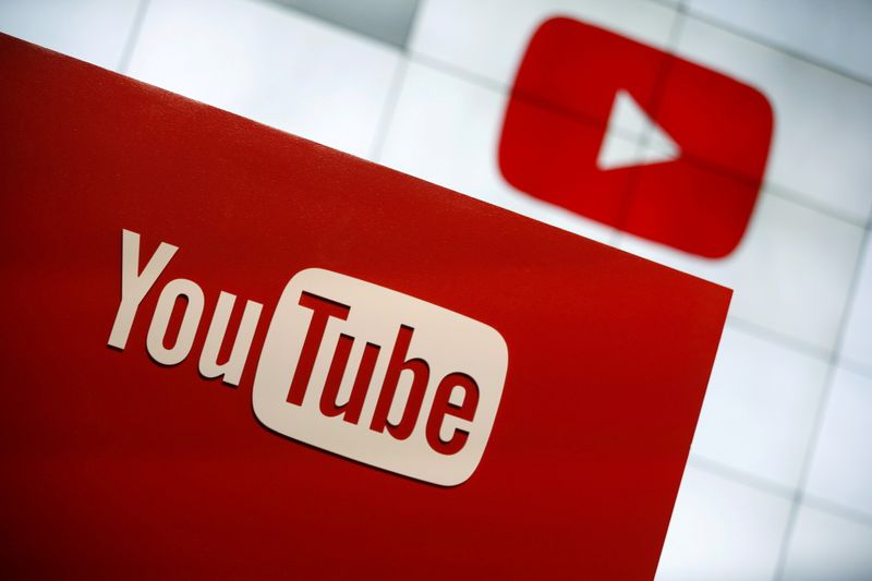 FILE PHOTO: YouTube logo in Los Angeles