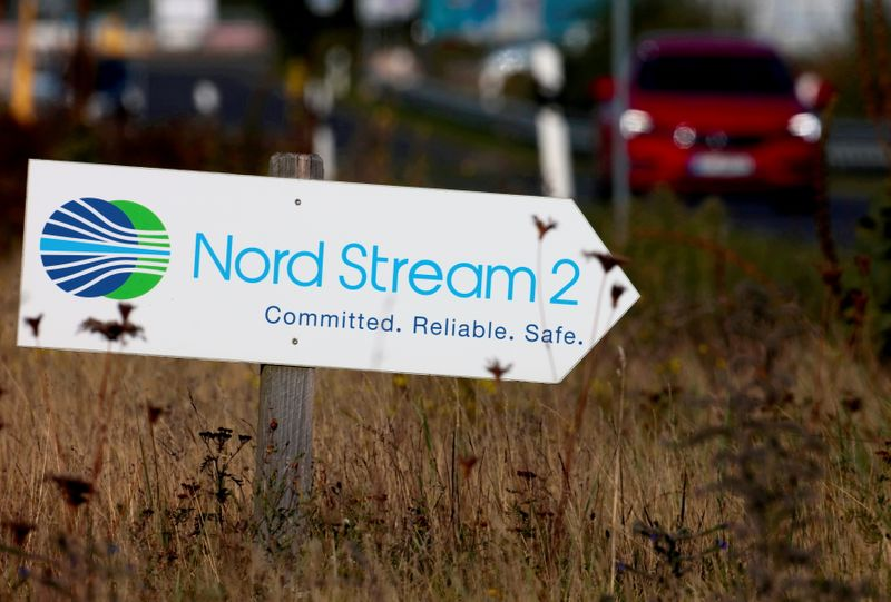 oFILE PHOTO: Nord Stream 2 land fall facility in Lubmin