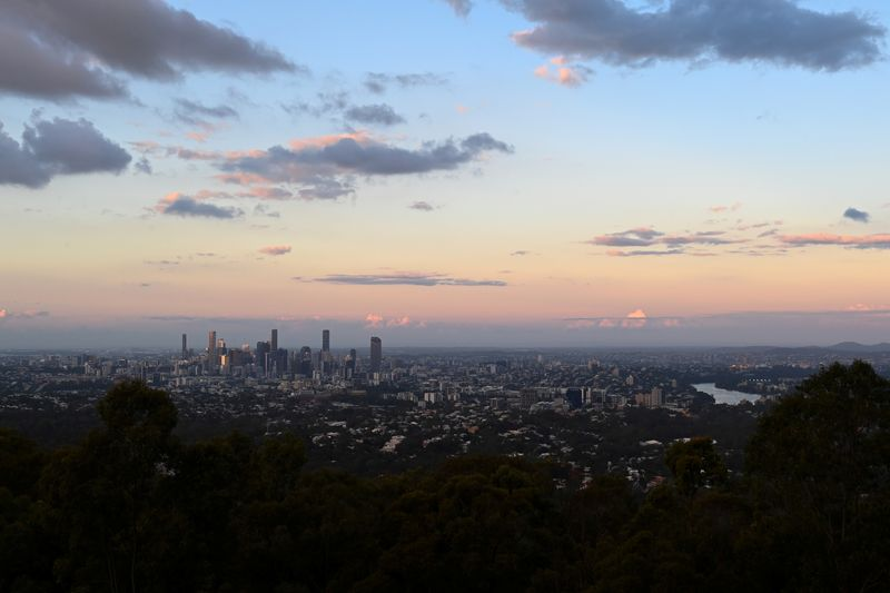 A view of the city of Brisbane