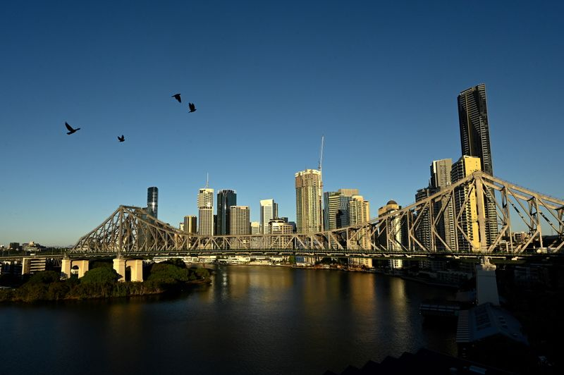 A view of the city skyline of Brisbane