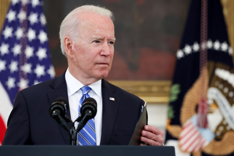 U.S. President Biden delivers remarks on the economy at the White House in Washington