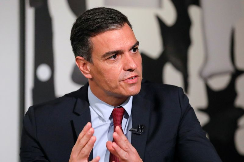 Prime Minister of Spain Pedro Sanchez speaks during a Reuters NEXT Newsmaker event at Instituto Cervantes in Manhattan, New York City