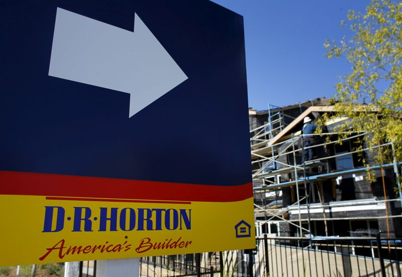 FILE PHOTO: A D.R. Horton home building project is pictured in San Marcos, California