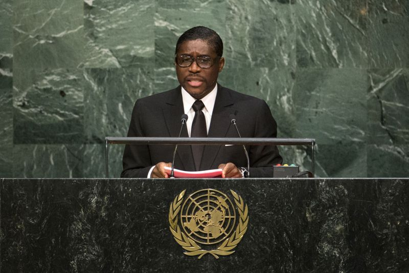 FILE PHOTO: Equatorial Guinea's Second Vice-President Obiang Mangue addresses attendees during the 70th session of the United Nations General Assembly at the U.N. Headquarters in New York