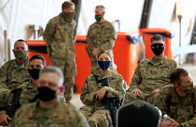 FILE PHOTO: U.S. troops pictured in Iraq in 2020