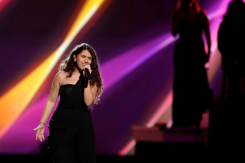 Alessia Cara performs during the 2019 Latin Recording Academy's Person of the Year Gala honoring Colombian musician Juanes at the MGM Grand hotel-casino in Las Vegas