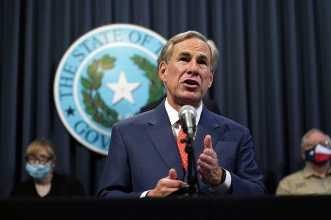 Texas Gov. Greg Abbott speaks during a news conference in Austin, Texas. (AP Photo/Eric Gay)
