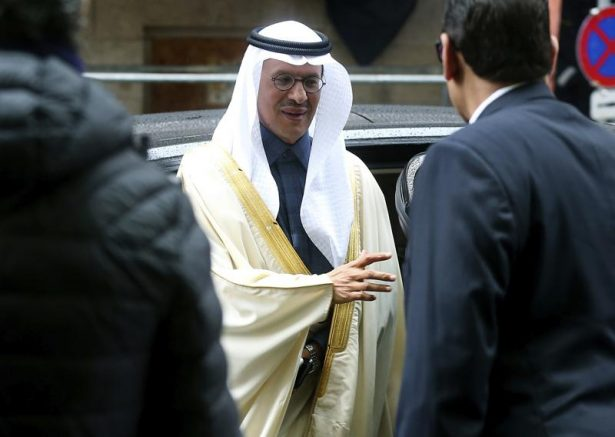 Prince Abdulaziz bin Salman Al-Saud, Minister of Energy of Saudi Arabia, arrives for a meeting of the Organization of the Petroleum Exporting Countries, OPEC, and non OPEC members at OPEC headquarters in Vienna, Austria.