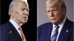 FILE - In this combination of file photos, Joe Biden speaks in Wilmington, Del., left, and President Donald Trump speaks at the White House in Washington. (AP Photo, File)