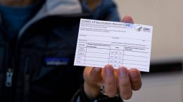 Experts have said it's important to hold onto your COVID vaccination card. (AP Photo/Craig Ruttle)