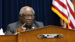 Chairman Rep. James Clyburn, D-S.C., speaks as Federal Reserve Board chairman Jerome Powell testifies on the Federal Reserve's response to the coronavirus pandemic during a House Oversight and Reform Select Subcommittee on the Coronavirus hearing on Capitol Hill in Washington, Tuesday, June 22, 2021. (Graeme Jennings/Pool via AP)