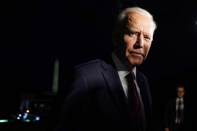 President Joe Biden stops to speaks to reporters on the South Lawn of the White House in Washington, Wednesday, July 21, 2021, after returning from a trip to Cincinnati. (AP Photo/Susan Walsh)