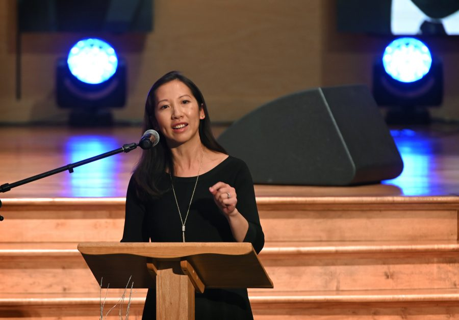 Dr. Leana Wen in Baltimore, Maryland. (Photo by Lloyd Fox-Pool/Getty Images)