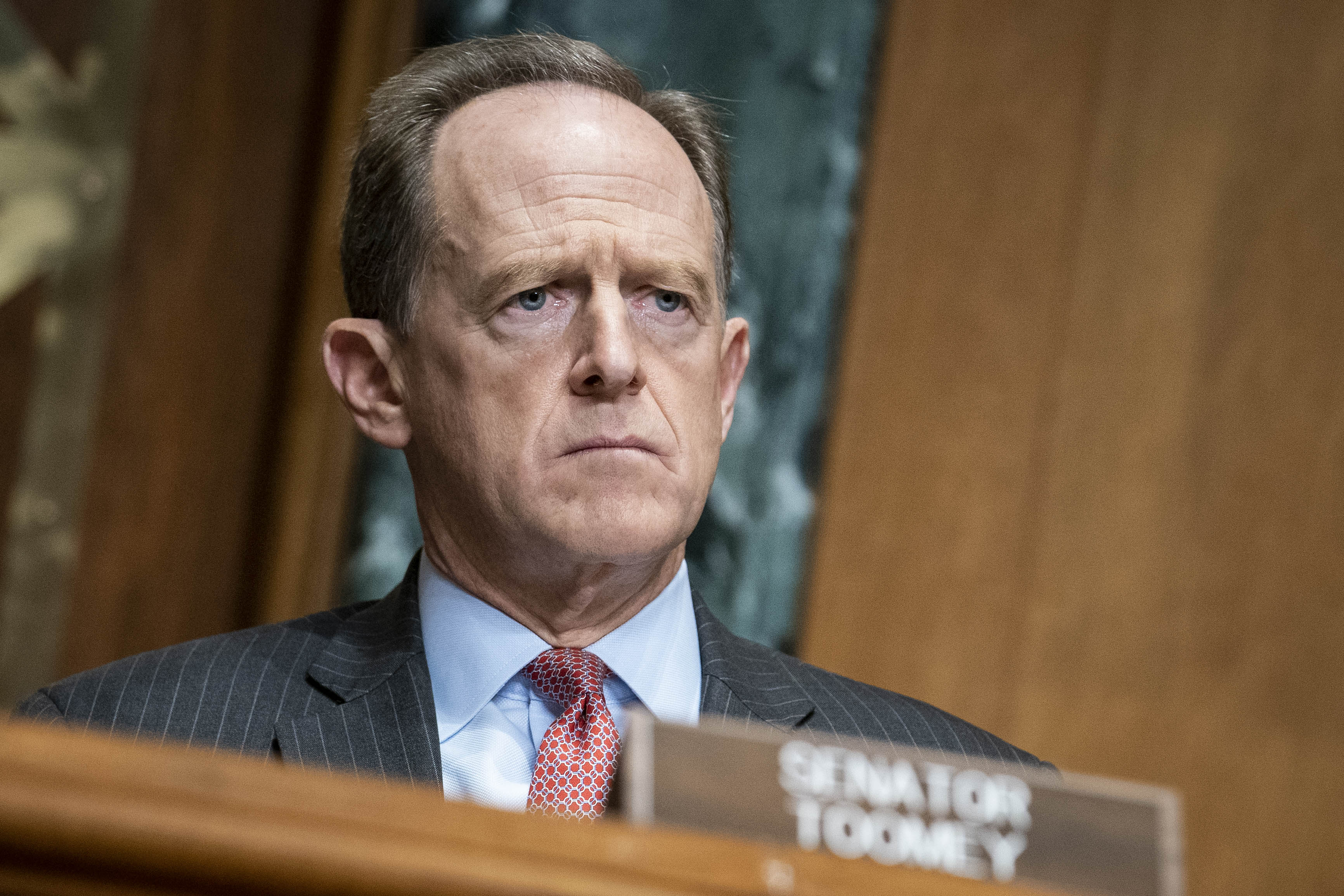 Rep. Senator Pat Toomey (R-PA) on Capitol Hill in Washington, D.C. (Photo by Sarah Silbiger-Pool/Getty Images)