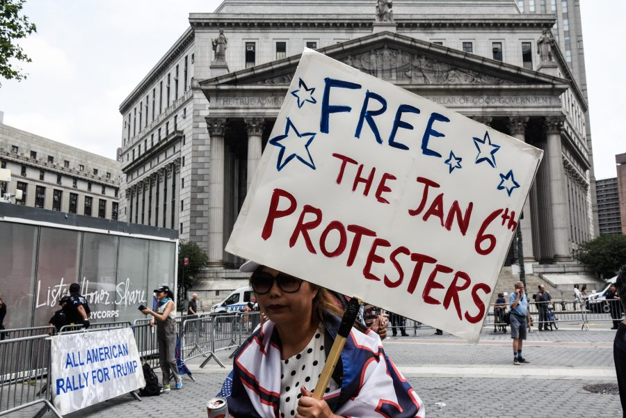 Protesters participate in a political rally in New York City. (Photo by Stephanie Keith/Getty Images)