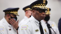 Chicago Police Superintendent David Brown holds a press conference where he vowed to step up measures to curb gun violence in Chicago, Illinois. (Photo by Scott Olson/Getty Images)