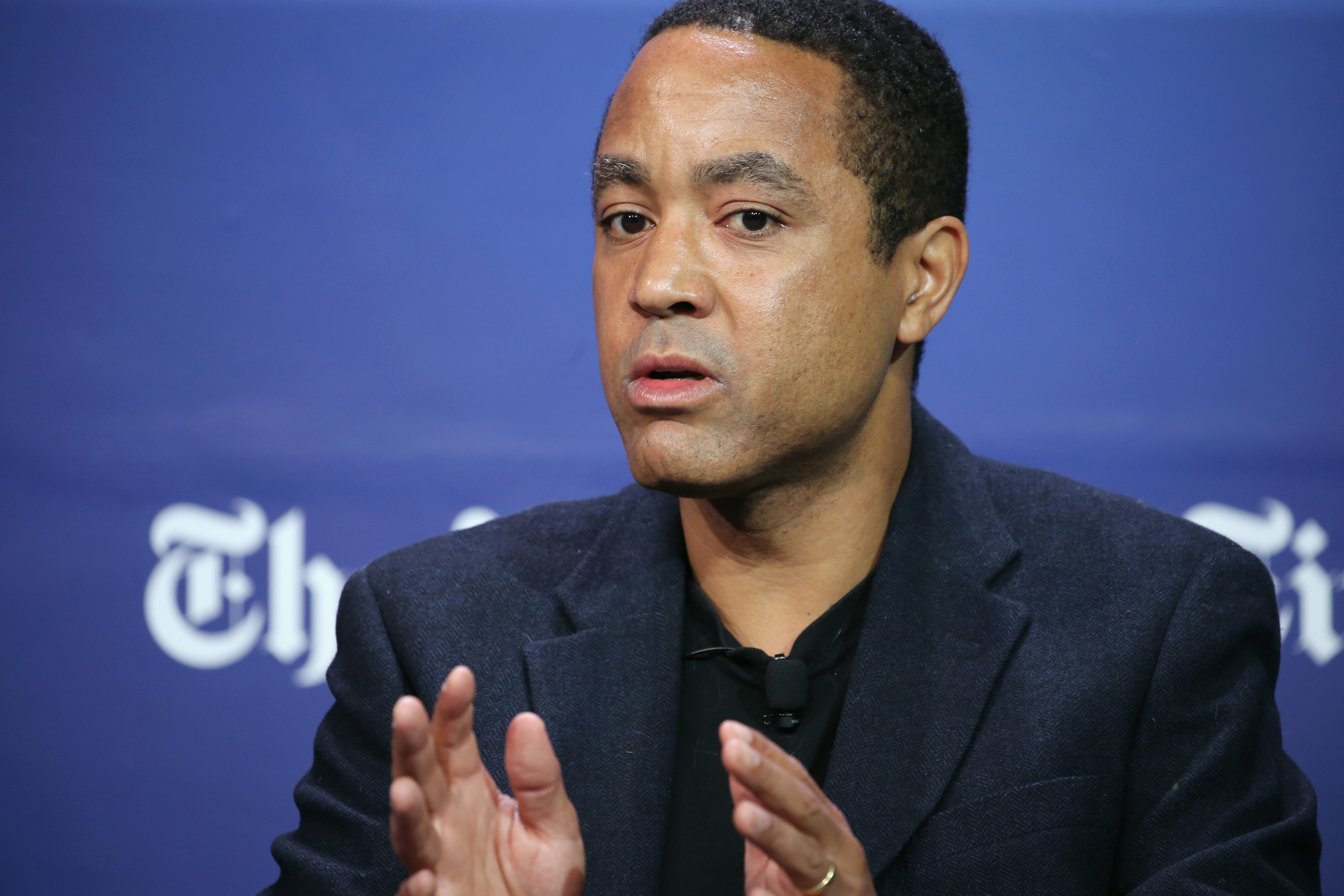 Author, columnist and professor at Columbia University, John McWhorter in New York City. (Photo by Neilson Barnard/Getty Images for New York Times)