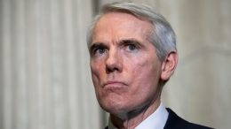 WASHINGTON, DC - DECEMBER 5: Sen. Rob Portman (R-OH) takes questions from reporters after meeting with Mary Barra, chief executive officer of General Motors (GM), on Capitol Hill, December 5, 2018 in Washington, DC. GM is under fire for plans to cut around 8,000 salaried workers and 3,300 hourly workers in the United States. The plants currently slated to close are in Lordstown, Ohio, Detroit and Warren, Michigan and Baltimore. (Photo by Drew Angerer/Getty Images)