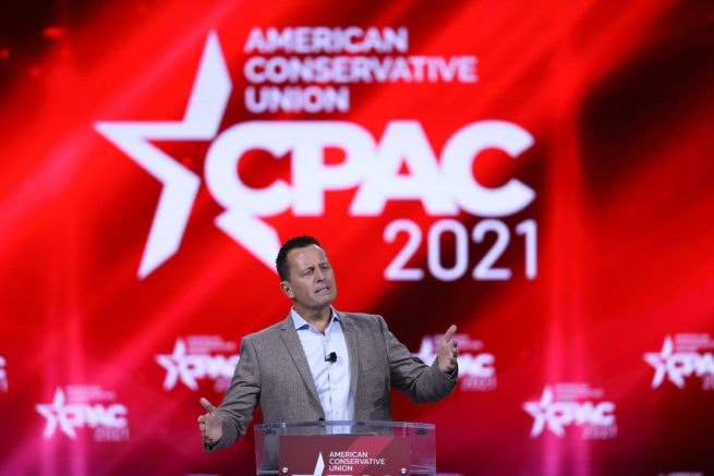 ORLANDO, FLORIDA - FEBRUARY 27: Amb. Richard Grenell, former Acting Director of U.S. National Intelligence, speaks during the Conservative Political Action Conference held in the Hyatt Regency on February 27, 2021 in Orlando, Florida. Begun in 1974, CPAC brings together conservative organizations, activists, and world leaders to discuss issues important to them. (Photo by Joe Raedle/Getty Images)