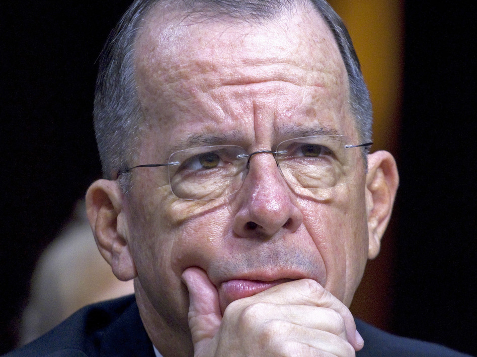 Then-Joint Chiefs Chairman Adm. Michael Mullen testifies on Capitol Hill in Washington, in 2011. Mullen, who retired six years ago, has expressed concern about escalating tensions with North Korea. (Harry Hamburg/AP)