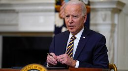 oe Biden pauses after signing an executive order relating to U.S. supply chains on Feb. 24 (Evan Vucci/AP)