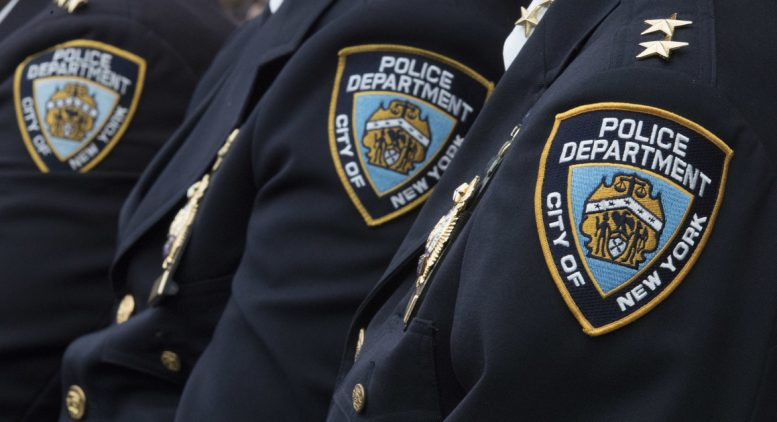 Three New York Police Department officers. (AP Photo)