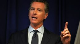 SACRAMENTO, CALIFORNIA - SEPTEMBER 18: California Gov. Gavin Newsom speaks during a news conference at the California justice department on September 18, 2019 in Sacramento, California. California Gov. Gavin Newsom, California attorney general Xavier Becerra and California Air Resources Board Chair Mary Nichols held a news conference in response to the Trump Administration's plan to revoke California's waiver to establish vehicle emissions standards for greenhouse gas emissions and standards to require manufacturers to sell zero emissions vehicles. Under the federal Clean Air Act, California is allowed to set its own vehicle emissions standards that are at least as protective as the federal government's standards. The state has received 100 waivers from the Environmental Protection Agency (EPA) for higher standards than federally mandated over the past 50 years. (Photo by Justin Sullivan/Getty Images)