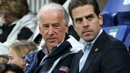 VANCOUVER, BC - FEBRUARY 14: United States vice-president Joe Biden (L) and his son Hunter Biden (R) attend a women's ice hockey preliminary game between United States and China at UBC Thunderbird Arena on February 14, 2010 in Vancouver, Canada. (Photo by Bruce Bennett/Getty Images)