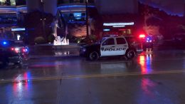 Houston police responded to a shooting that left two people dead and another injured at the city's Downtown Aquarium Thursday evening.(Houston Police Department)