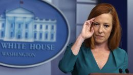 WASHINGTON, DC - JULY 06: White House Press Secretary Jen Psaki listens during a daily briefing at the James Brady Press Briefing Room of the White House July 6, 2021 in Washington, DC. Psaki held a daily briefing to answer questions from members of the press. (Photo by Alex Wong/Getty Images)