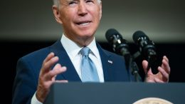 US President Joe Biden speaks about his Build Back Better economic plans after touring McHenry County College in Crystal Lake, Illinois, on July 7, 2021. (Photo by SAUL LOEB / AFP) (Photo by SAUL LOEB/AFP via Getty Images)