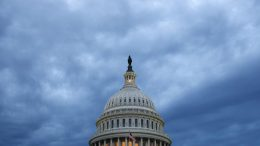FILE - In this June 12, 2019, file photo, clouds roll over the U.S. Capitol dome as dusk approaches in Washington. The committee charged with helping Republicans wrest control of the House next year raised $45.4 million over the last three months, a record quarterly haul during a year without a national election. (AP Photo/Patrick Semansky, File)