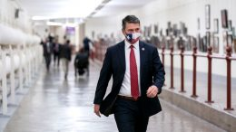 WASHINGTON, DC - JANUARY 12: Rep. Ronny Jackson (R-TX) wears a protective mask while walking through the Canon Tunnel to the U.S. Capitol on January 12, 2021 in Washington, DC. Today the House of Representatives plans to vote on Rep. Jamie Raskin's (D-MD) resolution calling on Vice President Mike Pence to invoke the 25th Amendment, removing President Trump from office. On Wednesday, House Democrats plan on voting on articles of impeachment. (Photo by Stefani Reynolds/Getty Images)