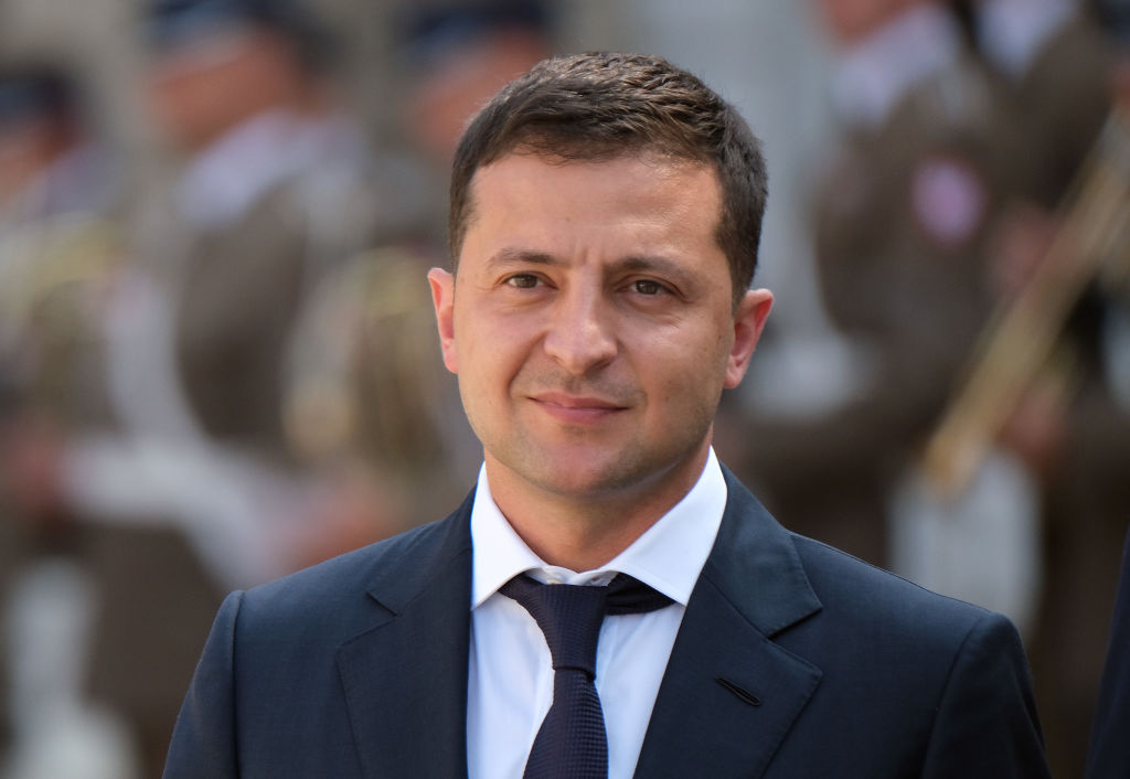 WARSAW, POLAND - AUGUST 31: Ukrainian President Volodymyr Zelensky and Polish President Andrzej Duda (not pictured) review a guard of honor upon Zelensky's arrival at the Presidential Palace on August 31, 2019 in Warsaw, Poland. Zelensky is in Poland for bilateral talks with the Polish government and to take part in tomorrow's international commemoration of the 80th anniversary of the outbreak of World War II. (Photo by Sean Gallup/Getty Images)