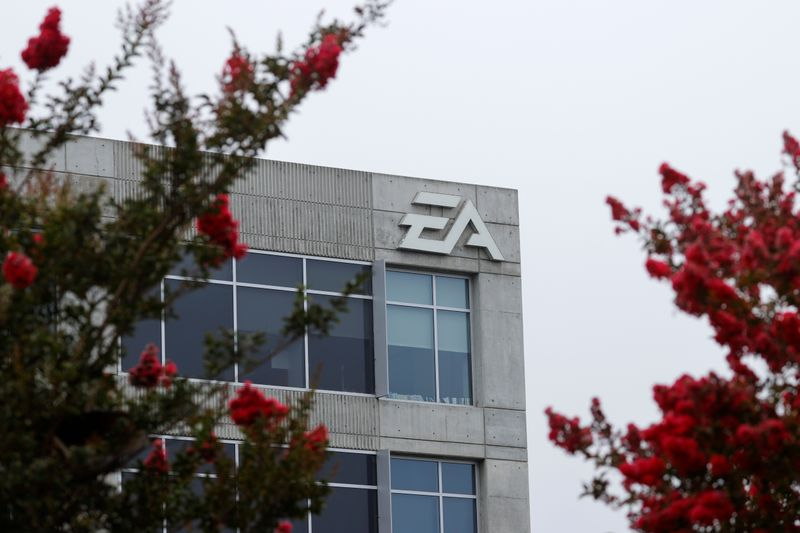 An Electronic Arts office building is shown in Los Angeles, California