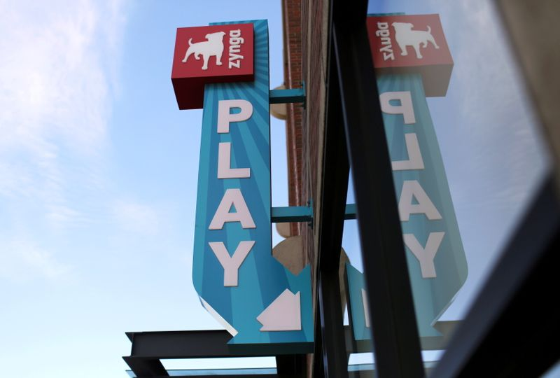 FILE PHOTO: FILE PHOTO: The Zynga logo is pictured at the company's headquarters in San Francisco