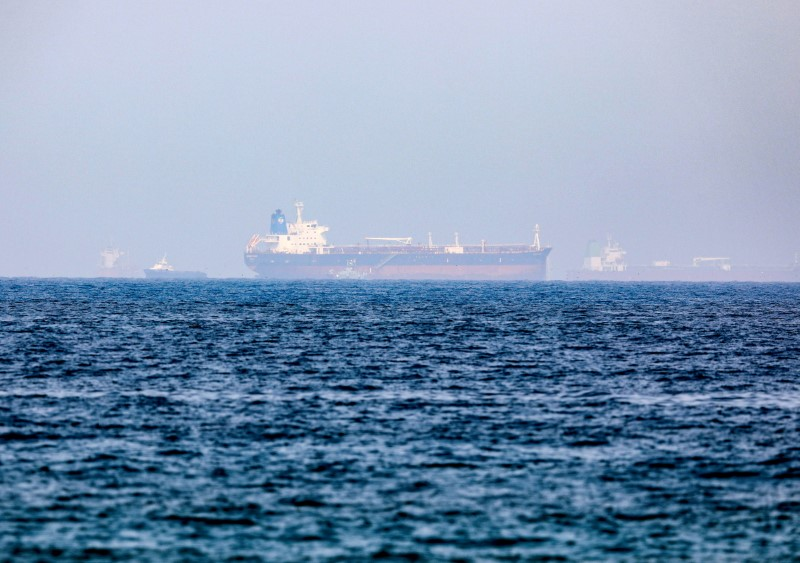 FILE PHOTO: Mercer Street, an Israeli-managed oil tanker that was attacked is seen off Fujairah Port