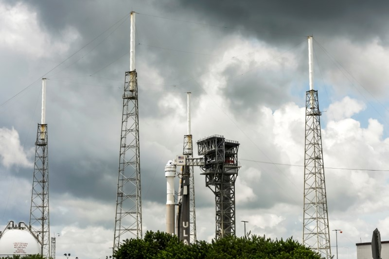 FILE PHOTO: Atlas V rocket carrying Boeing's CST-100 Starliner capsule is prepared for launch for do-over test flight in Cape Canaveral