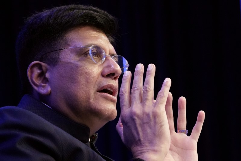 FILE PHOTO: Piyush Goyal, India's Minister of Railways and Minister of Commerce and Industry, attends a session at the 50th World Economic Forum (WEF) annual meeting in Davos