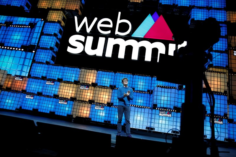 FILE PHOTO: Web Summit founder Paddy Cosgrave speaks at the closing ceremony of the Web Summit, in Lisbon