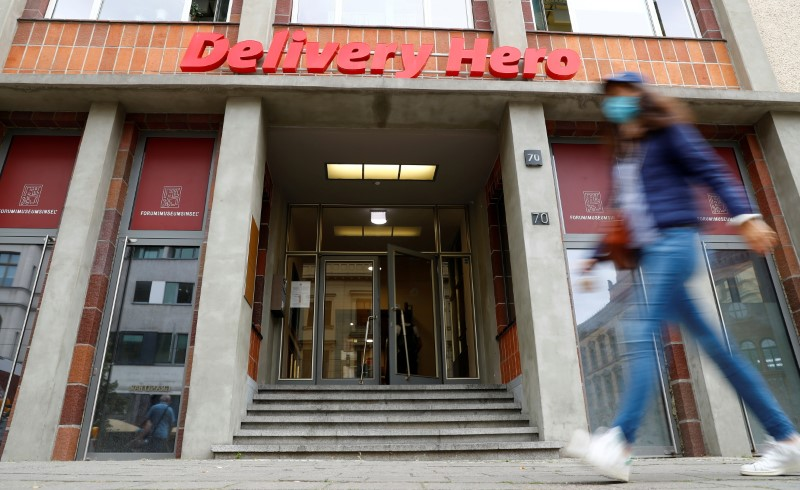 FILE PHOTO: The Delivery Hero headquarters are pictured in Berlin